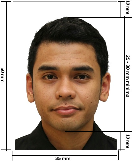 Malaysia Passport White Background Photo 35x50 Mm 3 5x5 0 Cm Size And Requirements